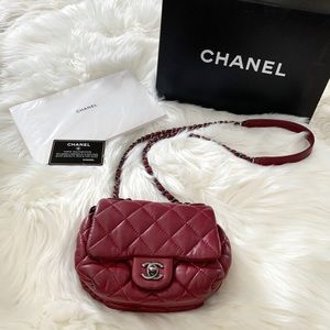 🖤 CHANEL Rare Mini Quilted Crossbody Shoulder Bag